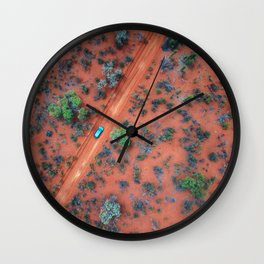 Terracotta Roads Wall Clock