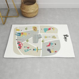 Rome Map Rug
