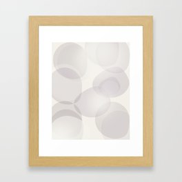 "Soft abstract shapes, ""Valeria"" Framed Art Print"