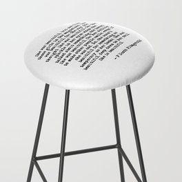 She was beautiful - Fitzgerald quote Bar Stool
