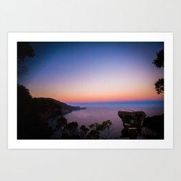 Sunset views Art Print
