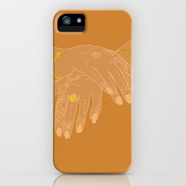 henna hands iPhone Case
