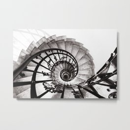A staircase in St Stephens Basilica Budapest Metal Print