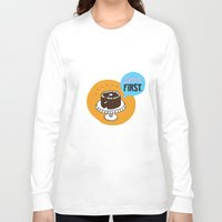 dessert Long Sleeve T-shirts featuring Dessert FIRST. by Zsofia Mihaly