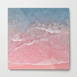 Coral And Blue Ocean And Seashore Metal Print