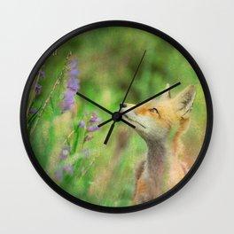 Close Encounters of a Fox Kind 3 Wall Clock