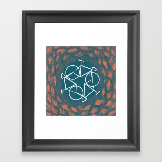 Bike-Cycle Framed Art Print