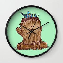 Good Day Log's Bird Nest Wall Clock
