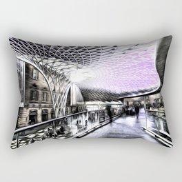 Kings Cross Station Art Rectangular Pillow