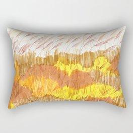 Golden Field drawing by Amanda Laurel Atkins Rectangular Pillow