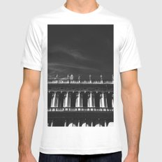 Above the edge Mens Fitted Tee MEDIUM White