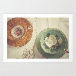 Two Teacups Art Print