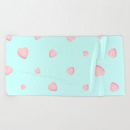 Candy Heart Beach Towel
