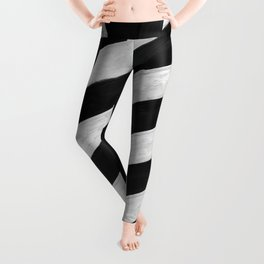 b&w stripes Leggings