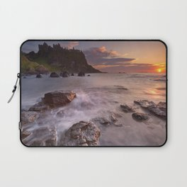 The Dunluce Castle in Northern Ireland at sunset Laptop Sleeve