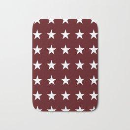 Stars on Maroon Bath Mat