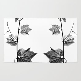 wine leaf abstract III Rug