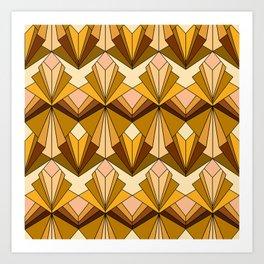 Art Deco meets the 70s Art Print