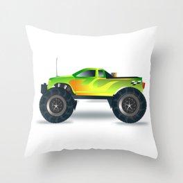 Monster Truck Toy Design Throw Pillow