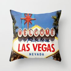 Ah Vegas... Throw Pillow