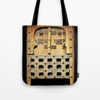 door Tote Bags featuring Door by Saundra Myles