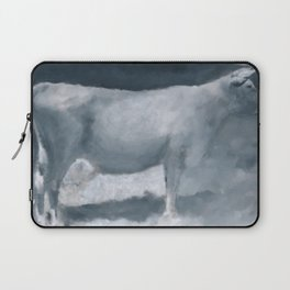 Impressions of a Brown Swiss Laptop Sleeve
