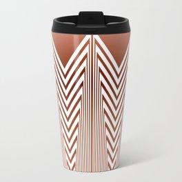 Art Deco Geometric Arrowhead Dusty Peach Design Travel Mug