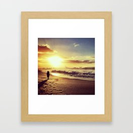 lovers rock. Framed Art Print