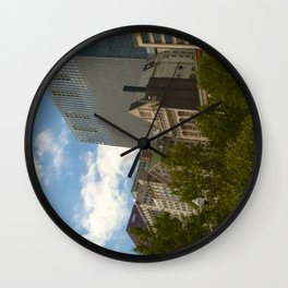 Downtown Chicago from Millenium Park Wall Clock
