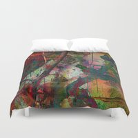chinese Duvet Covers featuring Chinese wall by dominiquelandau