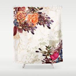 Vintage rose garden Shower Curtain