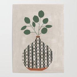 Karten Vase Poster