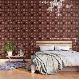Multi Storey Apartment Windows at Night Wallpaper
