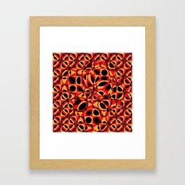 orange red circle pattern Framed Art Print