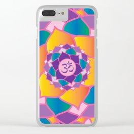Crown Chakra Yoga Clear iPhone Case