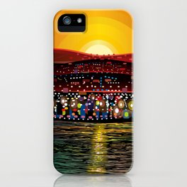 Angel Island Sunset (Square) iPhone Case