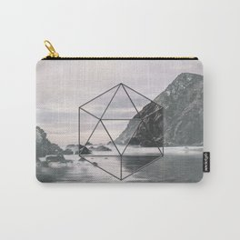 Surreal Geometric Calm Water Landscape View Hexagon Carry-All Pouch