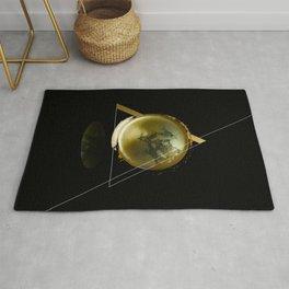 Triangular Entangled Moon Black Rug