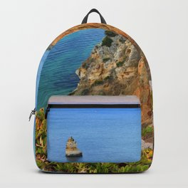 Praia Do Camilo At Sunset. Algarve. Portugal Backpack