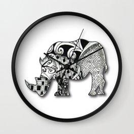 Zentangel Rhino Wall Clock
