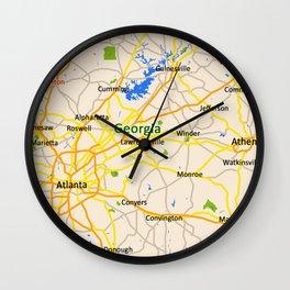Georgia Map Design - USA map Wall Clock