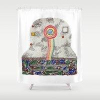 polaroid Shower Curtains featuring Polaroid by monicamarcov