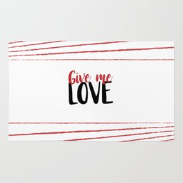 Give Me Love Doodle Lines Rug