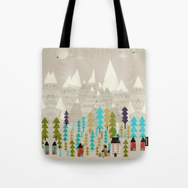 my happy mountains Tote Bag