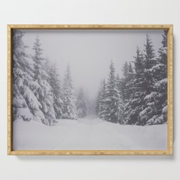 Winter walk - Landscape and Nature Photography Serving Tray
