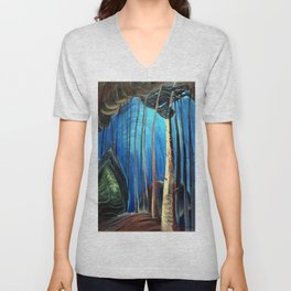 Emily Carr - Blue Sky - Canada, Canadian Oil Painting - Group of Seven Unisex V-Neck
