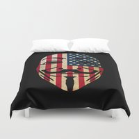 anonymous Duvet Covers featuring Anonymous USA by Spyck
