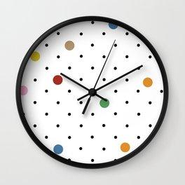 Pin Points Polka Dot Wall Clock