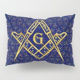 Freemasonry symbol Square and Compasses Pillow Sham