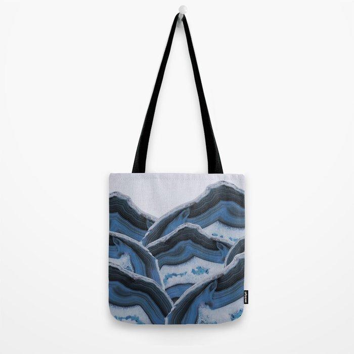 Agate Blue Mountains Tote Bag